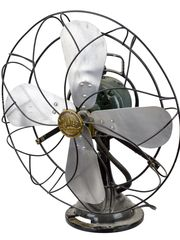 This vintage Hunter Century metal fan recently sold at auction for $120. (Photo: Tim Nelson)
